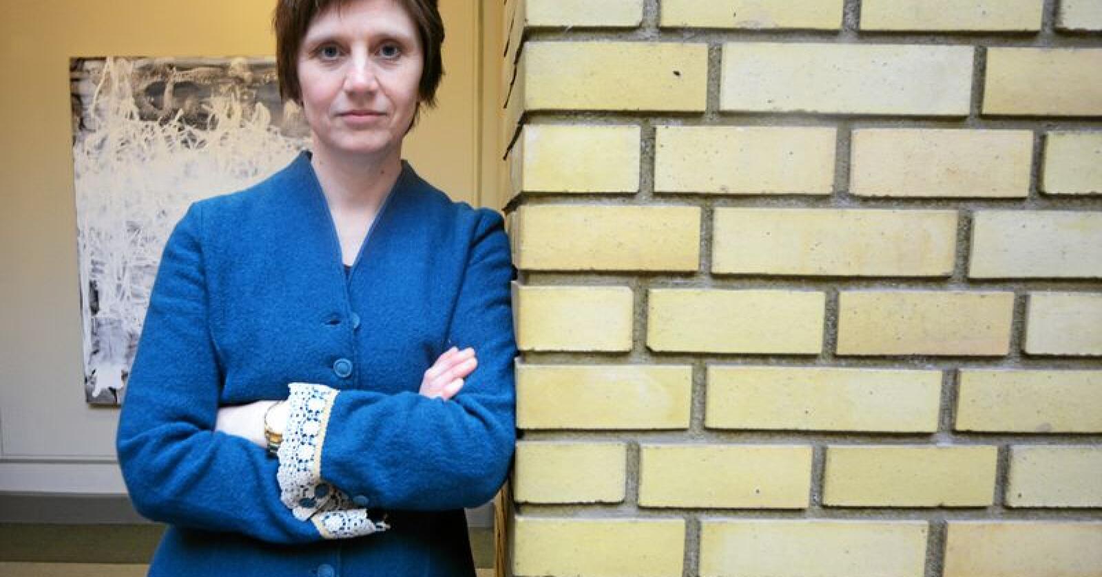 Sps Kjersti Toppe seier det er heilt utelukka at partiet vil støtte ein reform som avkriminaliserer mindre mengder rusmiddel. Foto: Siri Juell Rasmussen