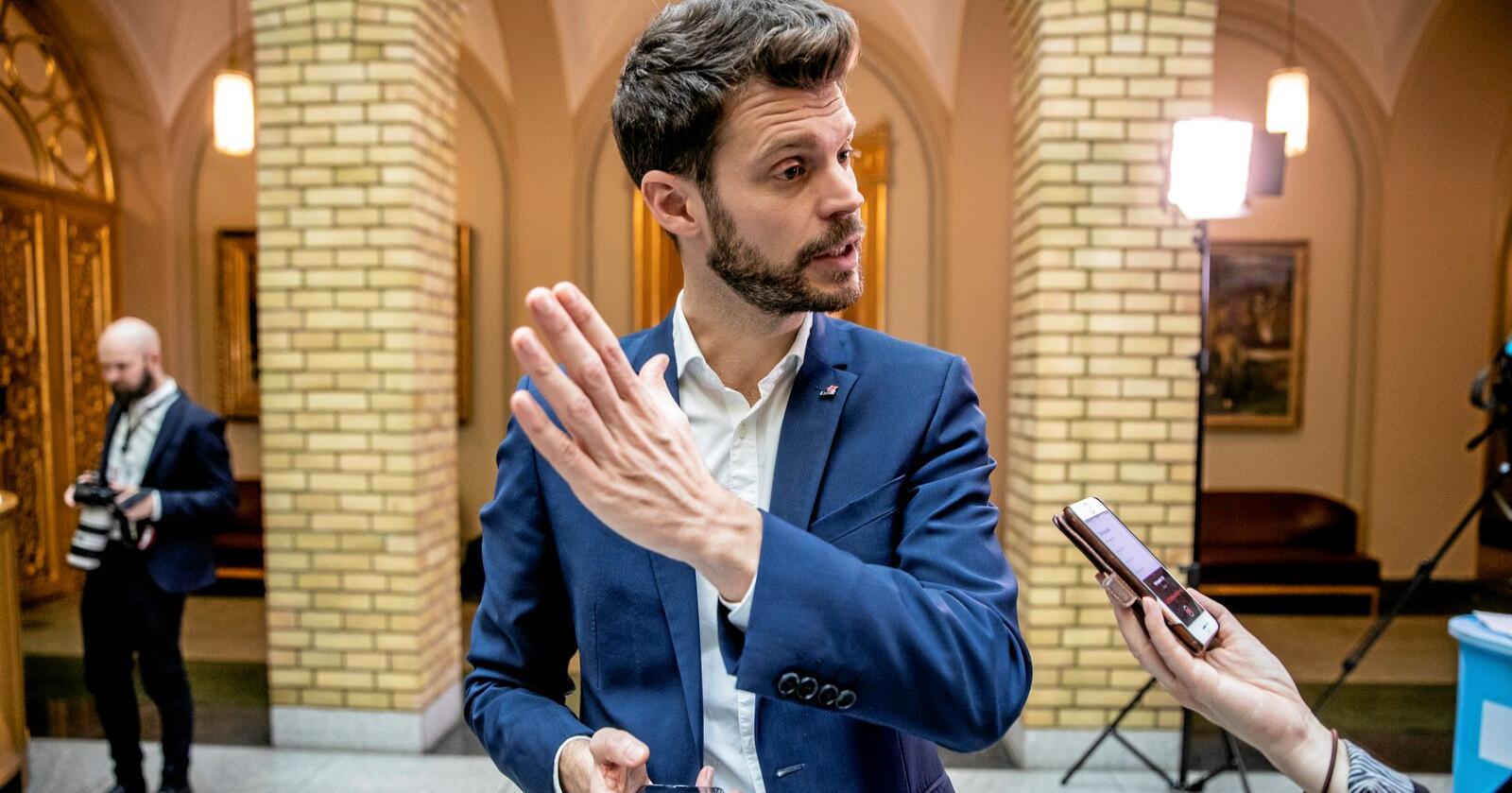 Sporer av: Bjørnar Moxnes, ifølge Steffen Syvertsen. Foto: Stian Lysberg Solum / NTB scanpix