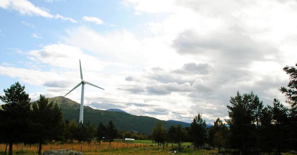 Nordavind: Norske vindturbiner bør vært norskeid, synes ganske mange.  Foto: Lars Bilit Hagen