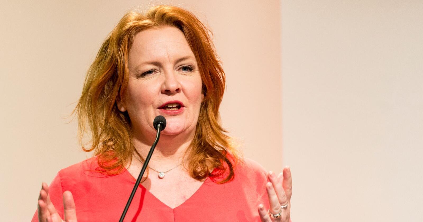 KrF-profil Dagrun Eriksen har meldt seg inn i det nye partiet Sentrum. Her er hun på KrFs landsmøte i 2017. Arkivfoto: Ned Alley / NTB