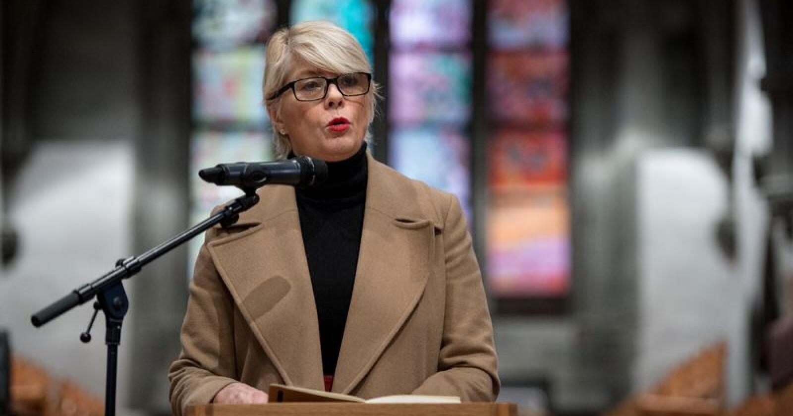 Kirkerådets leder Kristin Gunleiksrud Raaum har sendt ut et forslag til regler for hvordan medlemmer av rådet skal forholde seg til flyreiser. Foto: Carina Johansen / NTB scanpix