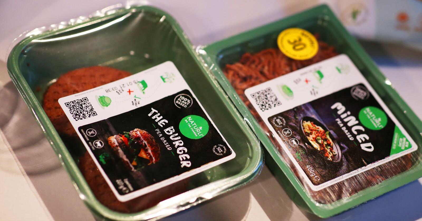 Ertebasert kjøttdeig og burgere er blant de nye vegetarnyhetene fra Orkla, og de kommer i norske butikker i februar. Å spise mer plantebaserte kjøtterstatninger har blitt en tydelig trend det siste året, ifølge matforsker. Foto: Ørn E. Borgen / NTB scanpix