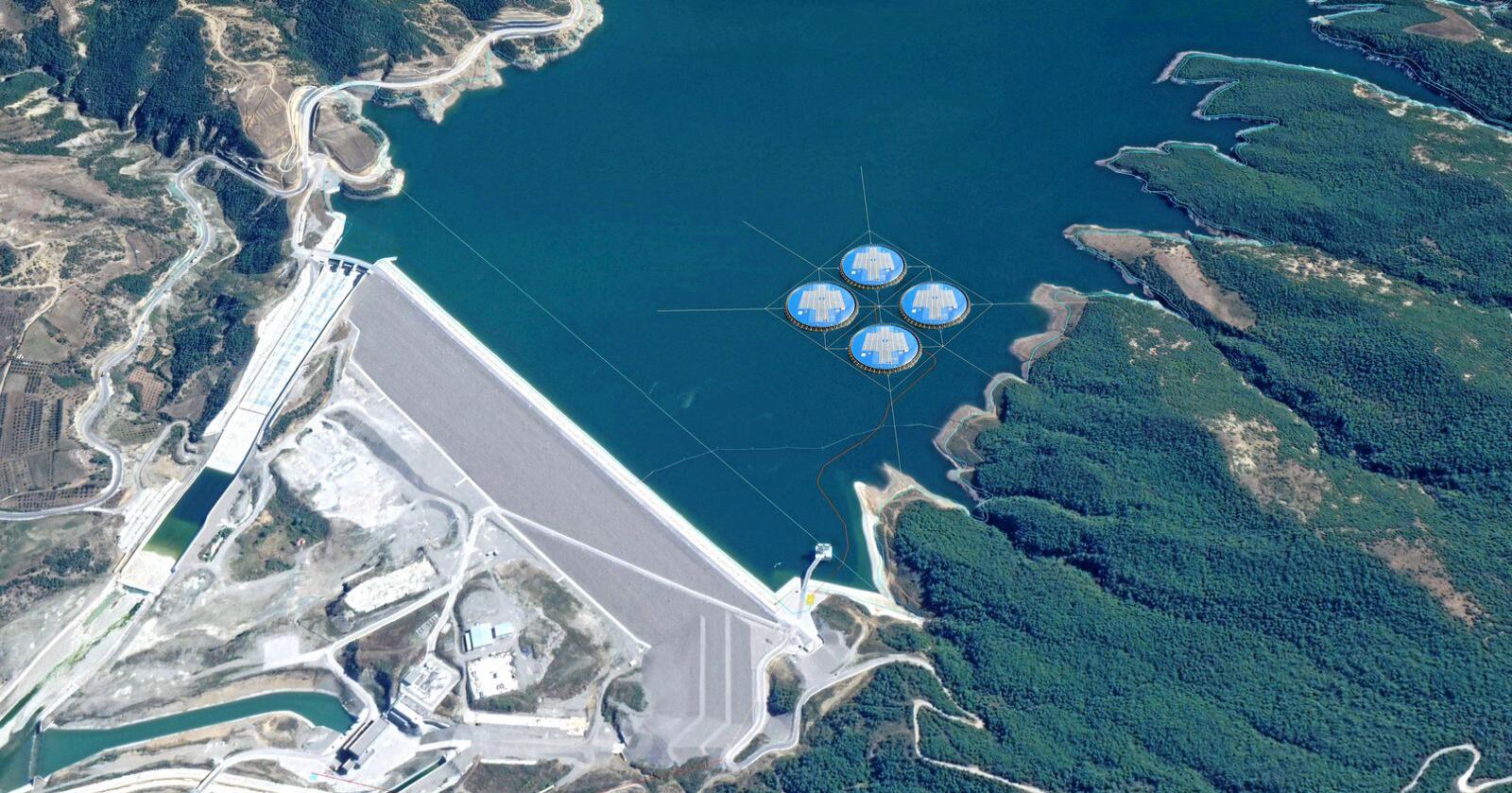Statkraft etablerer flytende solenergi i Albania. Foto: Statkraft