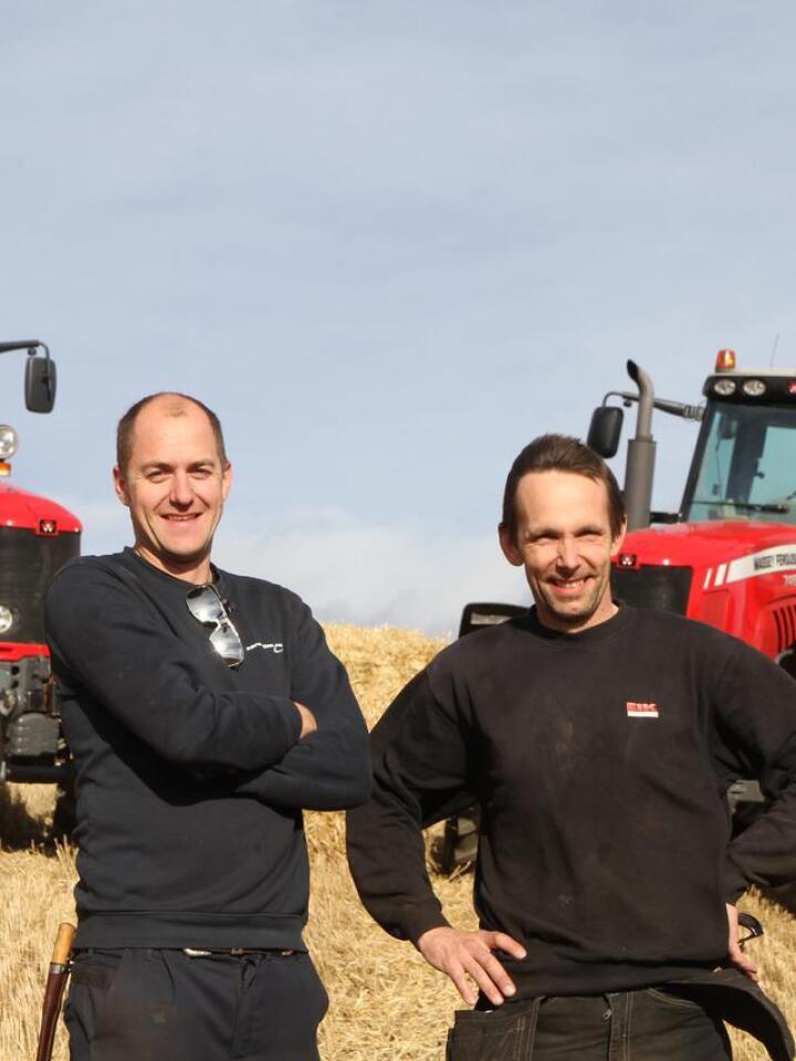 DUO: I snart 20 år har Ole-Anders Lien og Even Konningrud jobbet sammen med leiekjøring i Nes Maskin. Arkivfoto: Norsk Landbruk