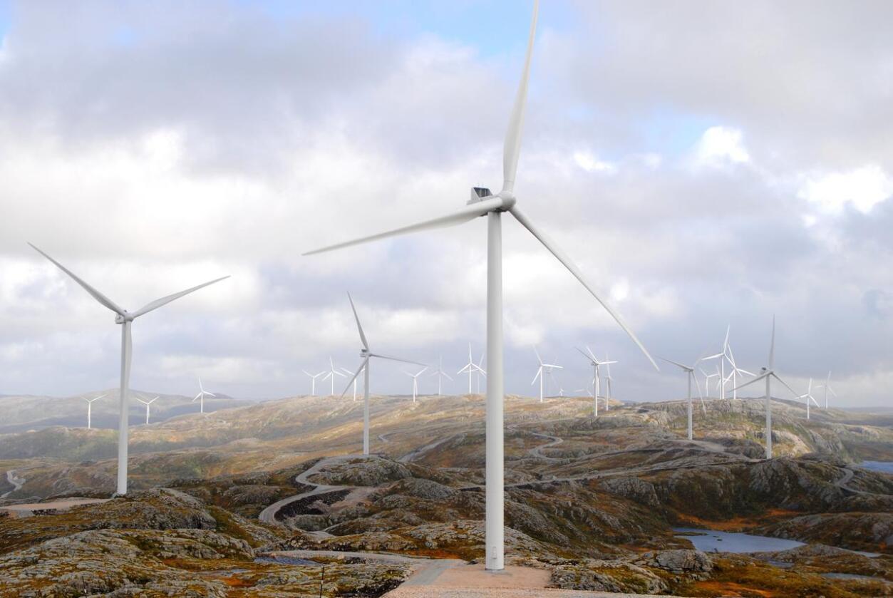 Vindkraftanlegg på Fosen i Trøndelag. Foto: Lars Bilit Hagen