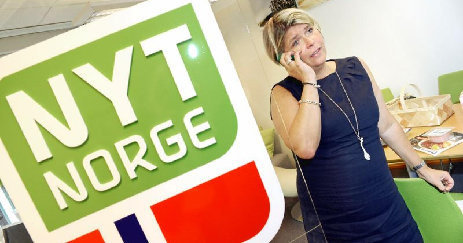 Nina Sundqvist, administrerende direktør i Nyt Norge er glad for at man nå også kan være sikker på at maten på restauranter er av norsk kvalitet. Foto: Mariann Tvete