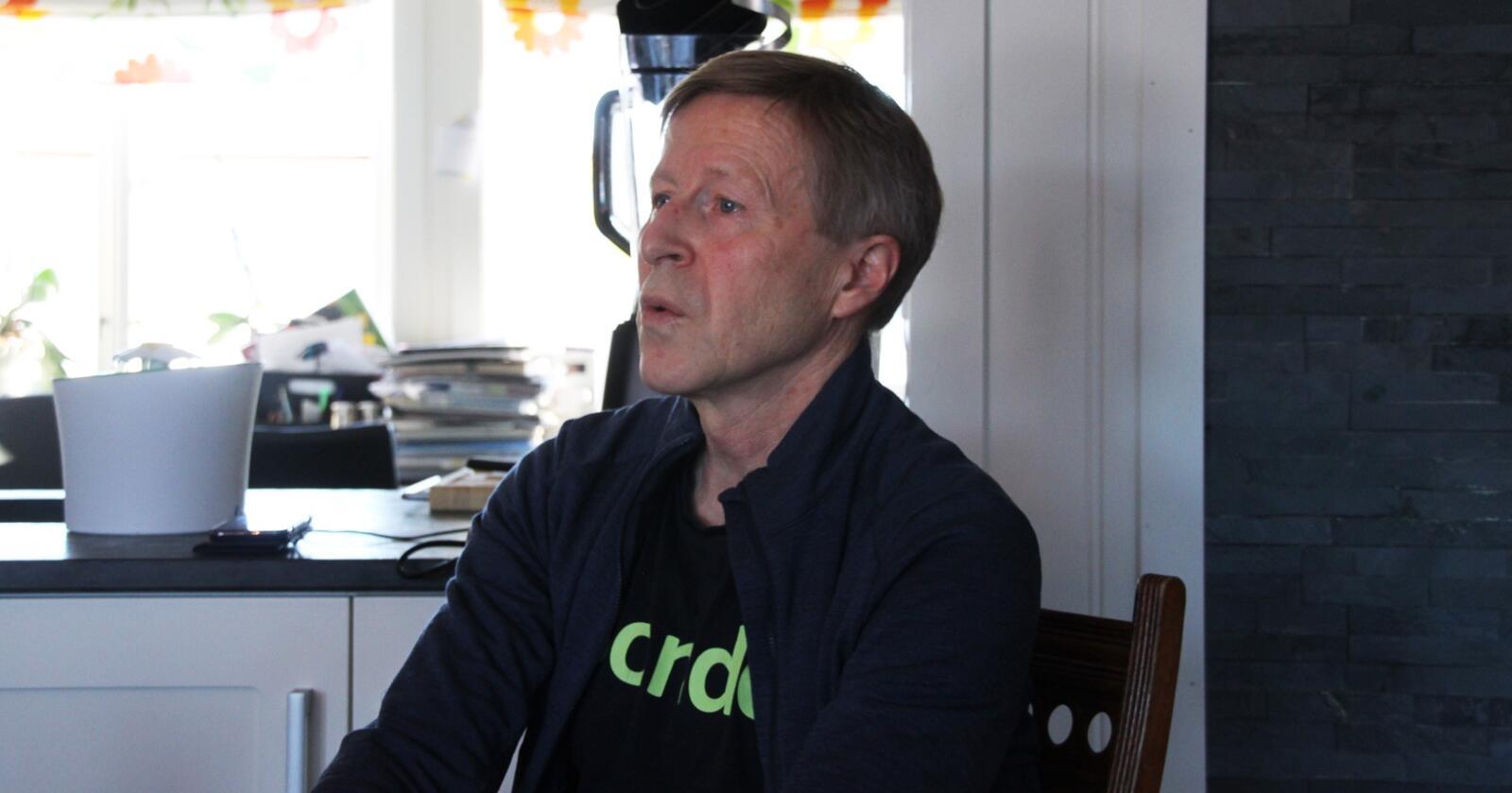 Leder av forpakterlaget i Maridalen, Per Skorge, er lettet over at Oslo bystyre har snudd om forpakteravtalene i Maridalen. Foto: Sigurd Lein Hernes