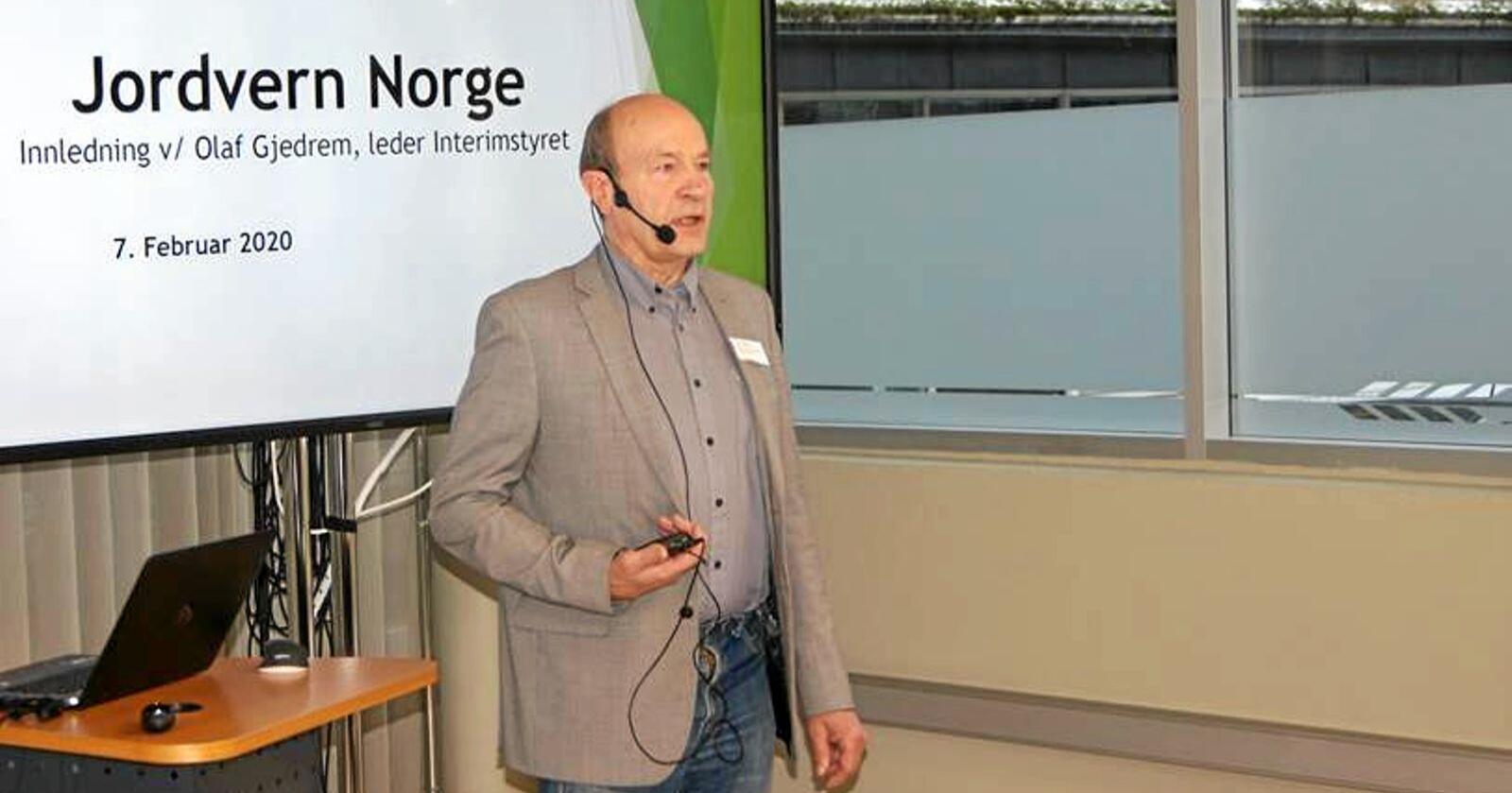 Olaf Gjedrem er leder i organisasjonen Jordvern Norge. Foto: Privat