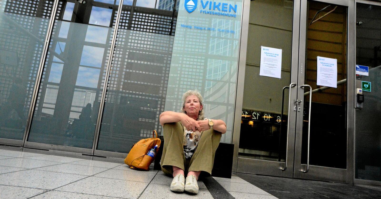 Kari Thue er villig til å sultestreike til hun kollapser. Foto: Siri Juell Rasmussen