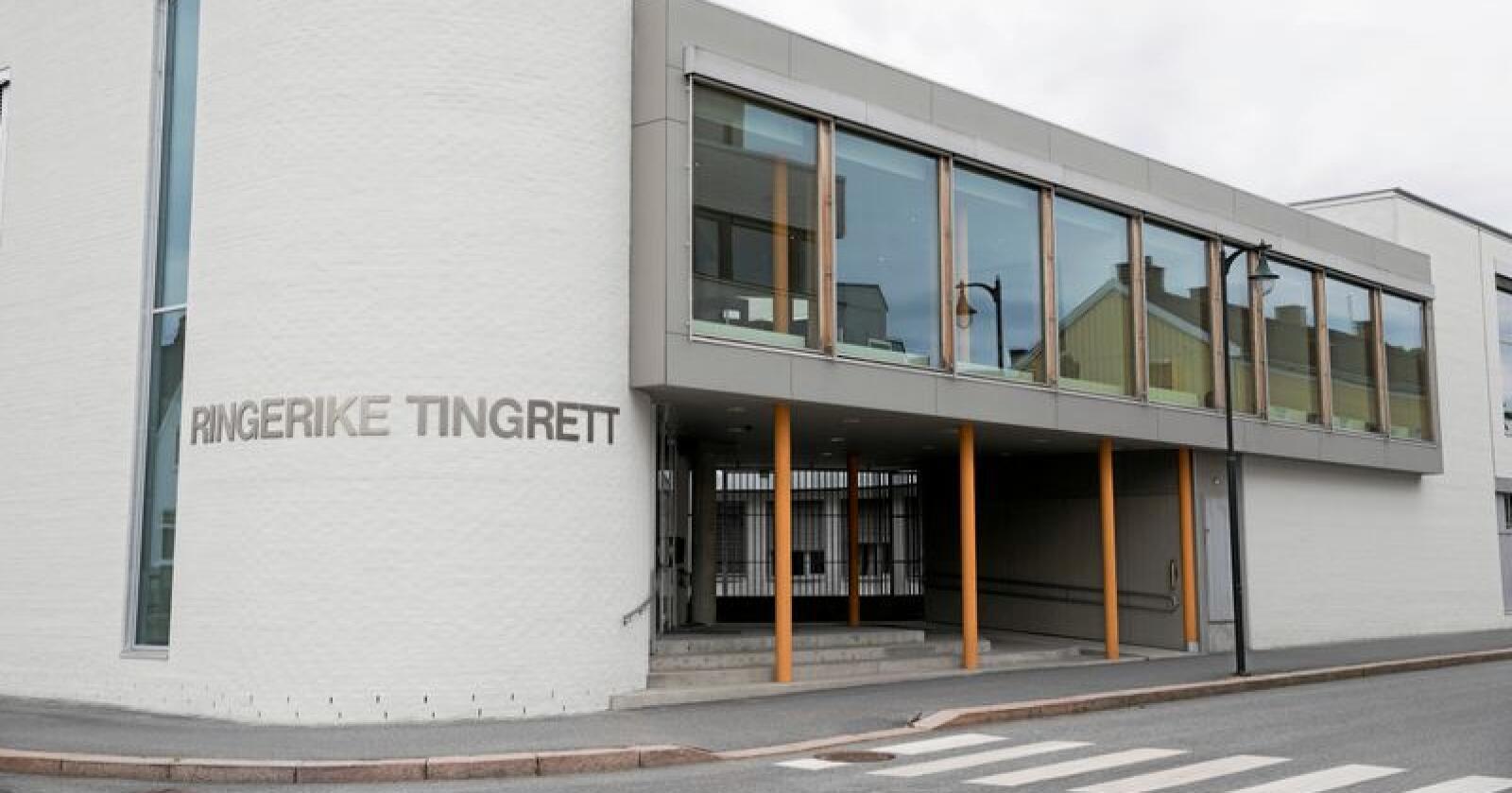 Dommen mot de to mennene falt i Ringerike tingrett. Foto: Terje Bendiksby / NTB scanpix