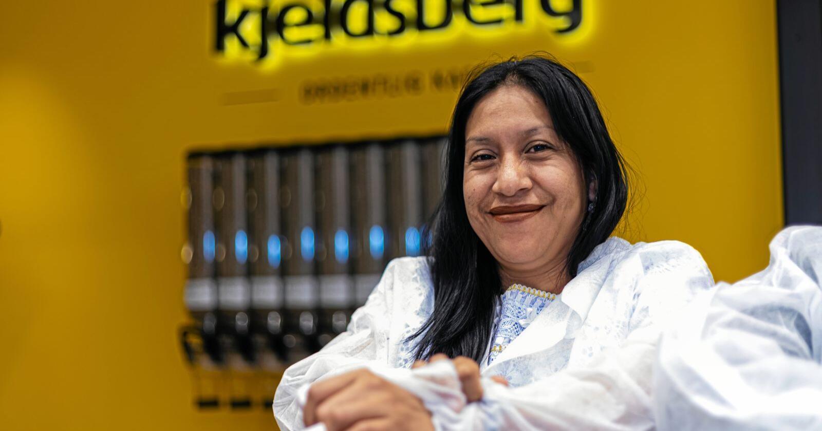 Josefa Hernández, er kaffeprodusent fra Guatemala. Foto: Even Langmo / Kjeldsberg