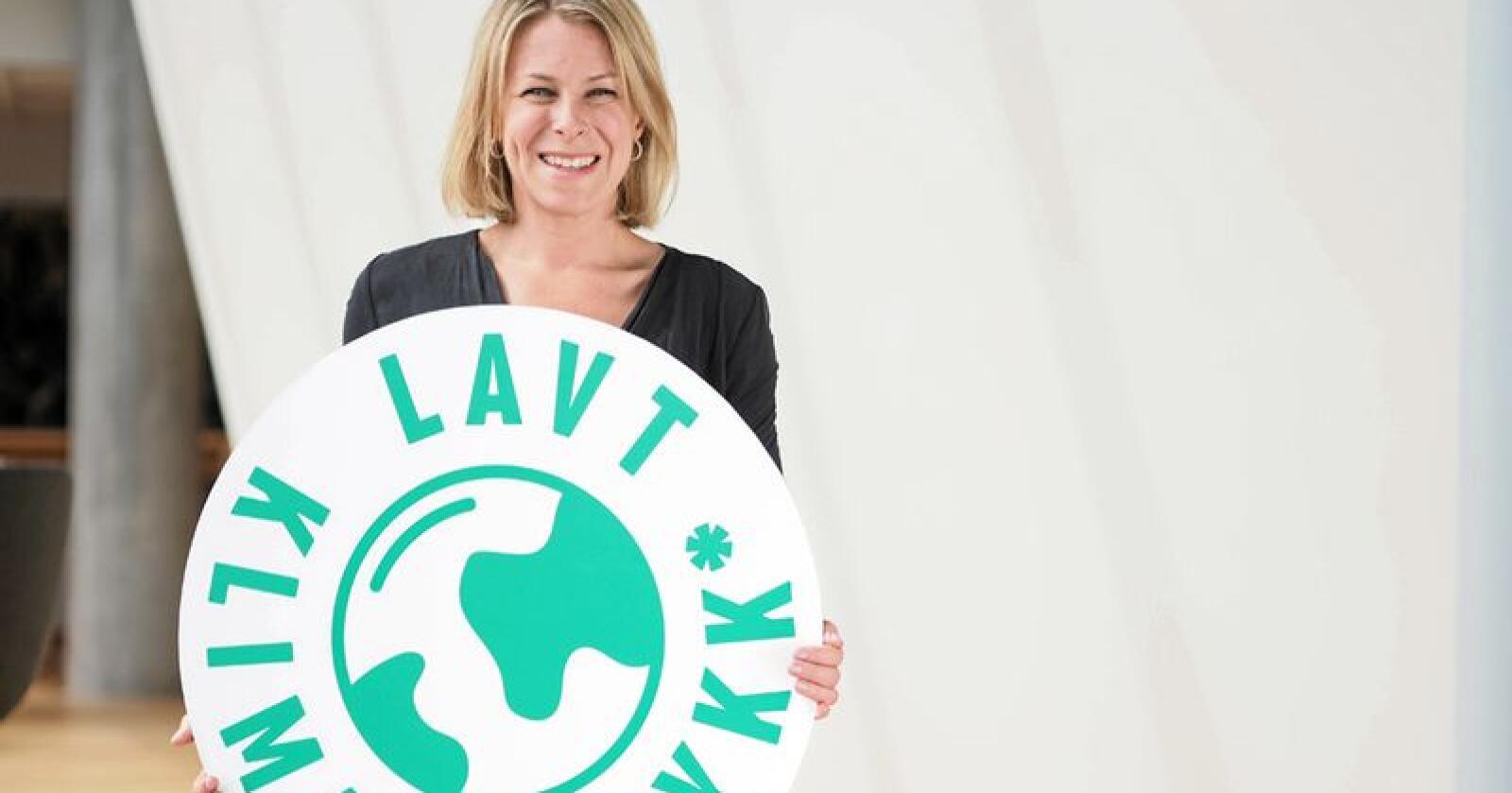 Johanne Kjuus, bærekraftansvarlig i Orkla Foods Norge, mener klima fortjener sin egen merkeordning. Foto: Orkla