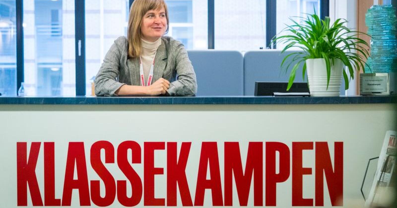 Mer distrikt: Klassekampen og redaktør Mari Skurdal målbærer desentrale verdier. Foto: Heiko Junge / NTB scanpix