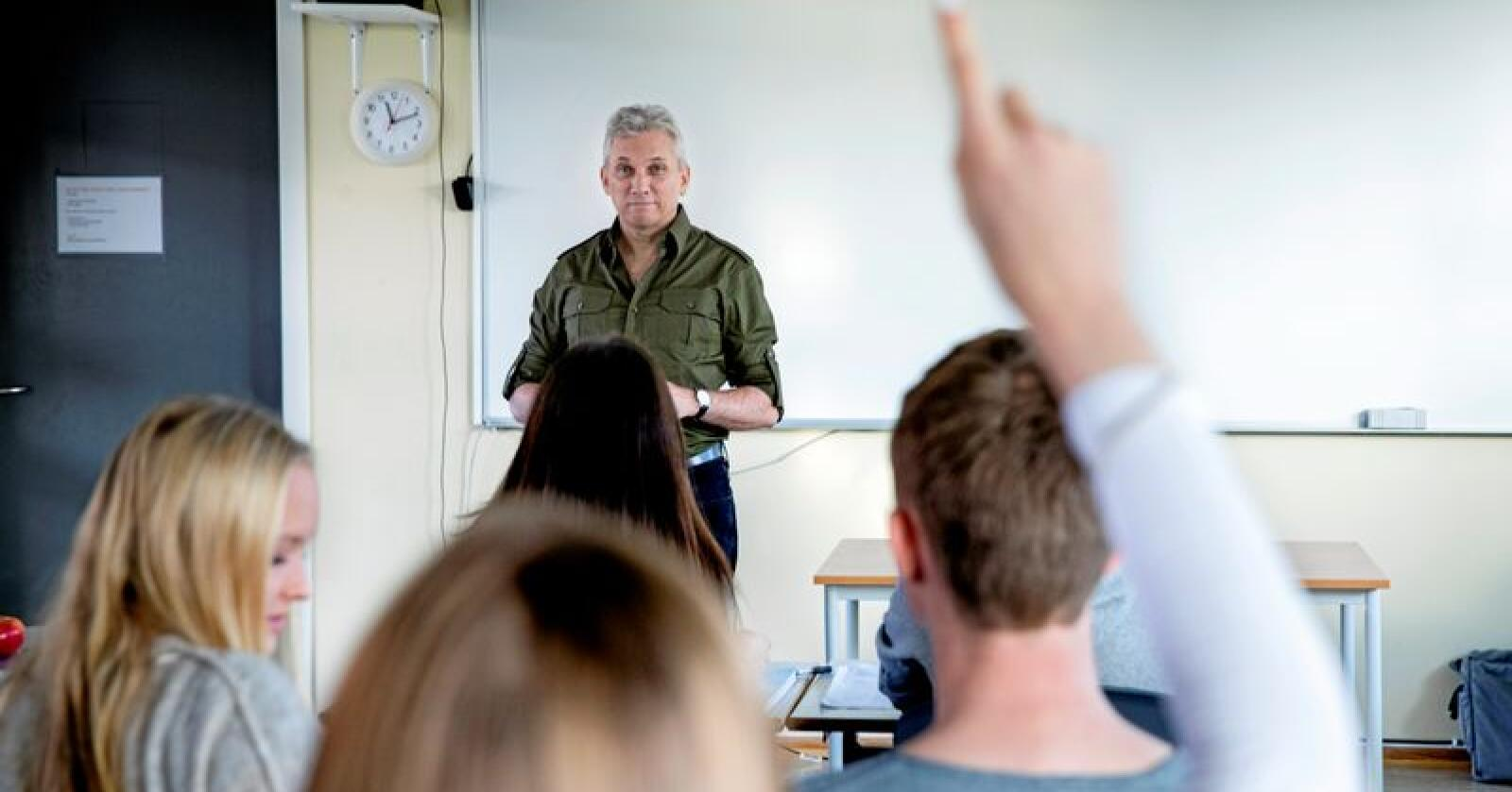 Lærarar, uavhengig av fag dei underviser i, skal kunna nynorsk, skriv innsendaren. Foto: Berit Roald / NTB scanpix