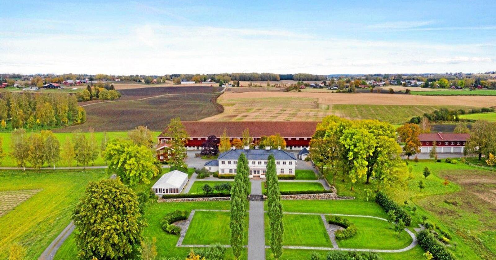 Staur Gård ligger i Stange i Hedmark. Foto: Tegneby & Grønnerød Landbruksmegling