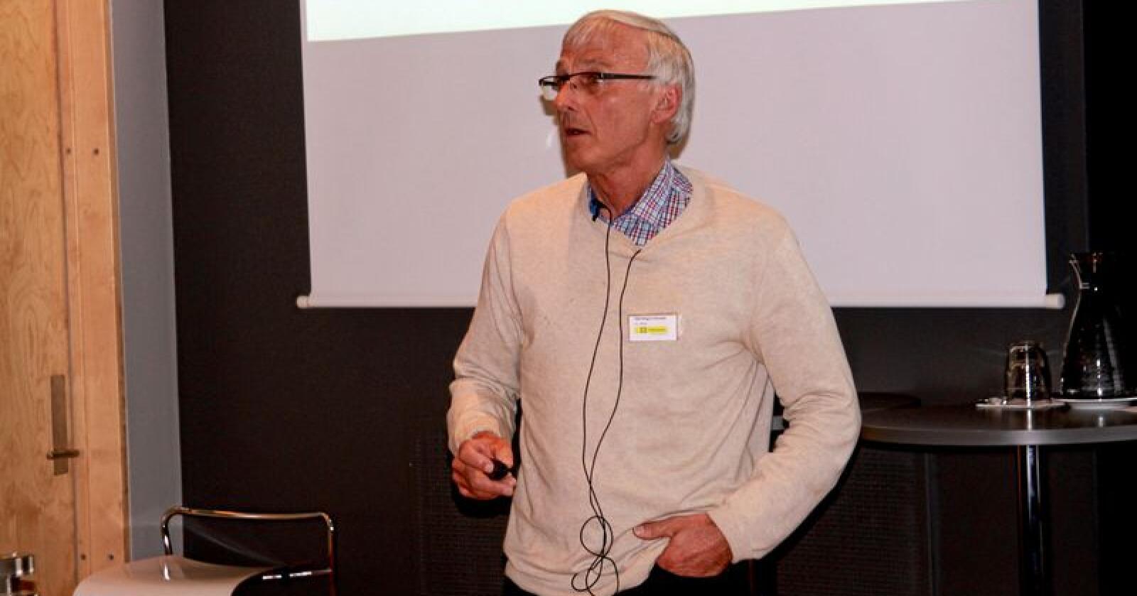 Odd Magne Harstad advarer kraftig mot å la drøvtyggere bli syndebukken i diskusjonen om norsk matproduksjon, bærekraft og klima. Foto: Svein Egil Hatlevik