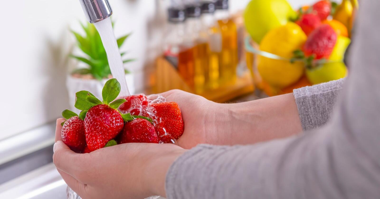 Har du lurt på hvorfor du må vaske bær før du spiser dem? Illustrasjonsfoto: Mostphotos