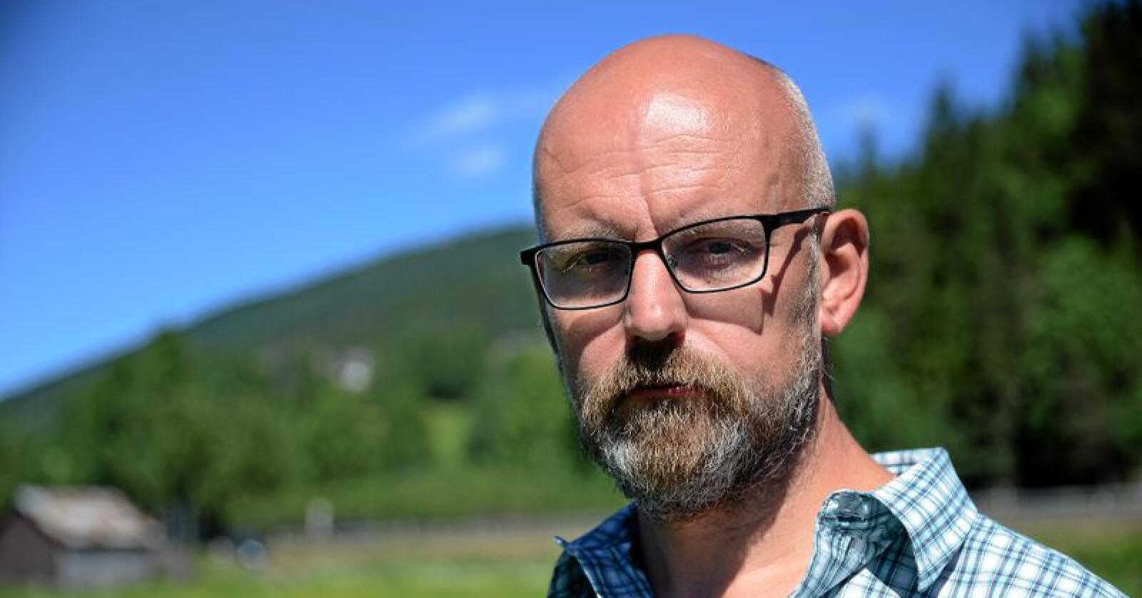 Kjell Erik Brandstadmoen er en av de to mye medlemmene i forhandlingsutvalget til Norsk Bonde- og Småbrukarlag. Foto: Siri Juell Rasmussen