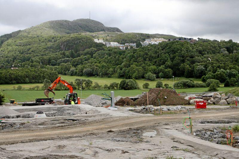 Jordvern: Det blir bygd ned mindre jord i Møre og Romsdal. Biletet er ikkje frå Møre og Romsdal. Foto: Bjarne Bekkeheien Aase