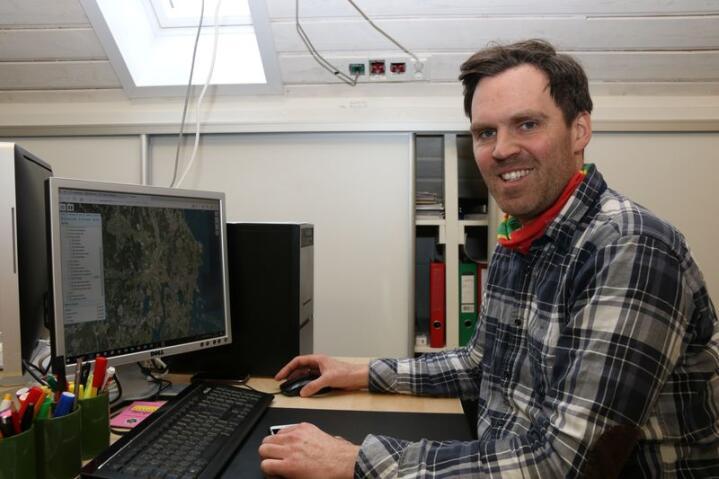 Grønnsaks- og kornprodusent Edvart Freberg har tatt i bruk Skifteplan web. Foto: Dag Idar Jøsang