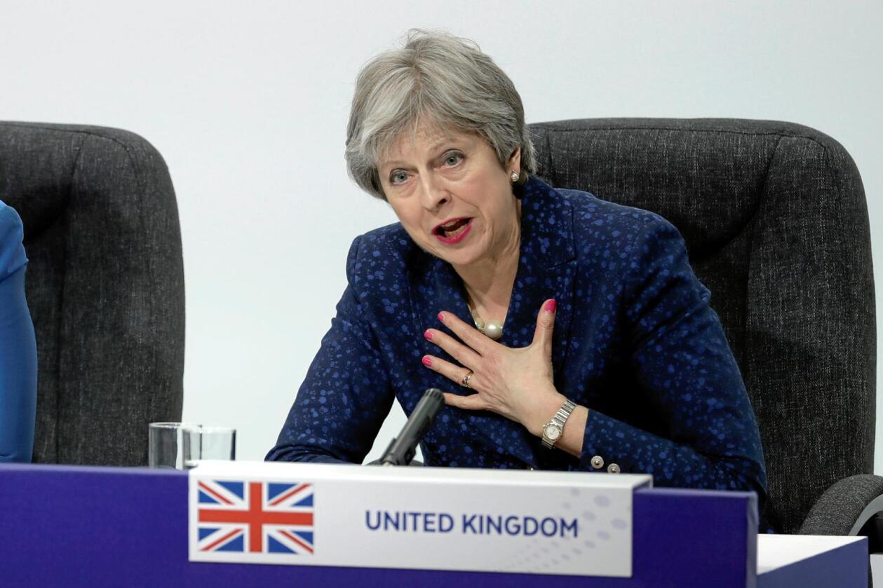 Statsminister Theresa May har foreløpig ikke presentert en klar plan for hvordan britisk landbruk skal se ut etter brexit. Foto: Matt Dunham / AP / NTB Scanpix