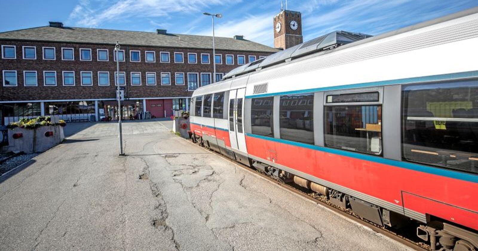 Hit, men ikke lenger: Nordlandsbanen stopper i Bodø. Foto: Per-Inge Johnsen / NTB scanpix