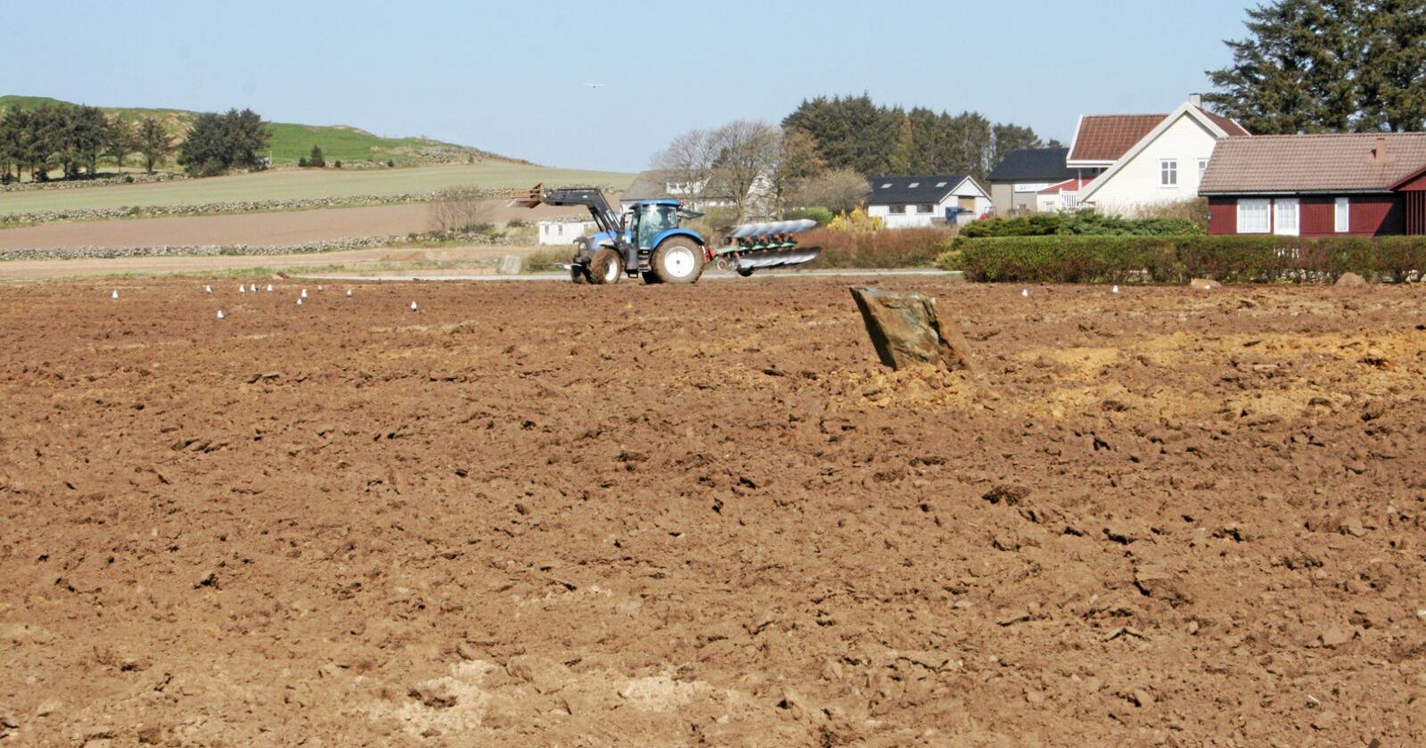 Ikkje berre mold: Jordkapitalisten og -drivaren må snakka saman som jamningar. Foto: Bjarne B. Aase