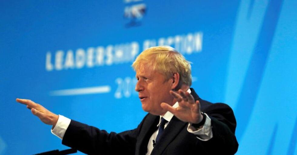 Tidligere London-ordfører og utenriksminister Boris Johnson er favoritt til å ta over som leder for det konservative partiet etter Theresa May. I så fall blir han automatisk statsminister. Foto: AP/NTB scanpix