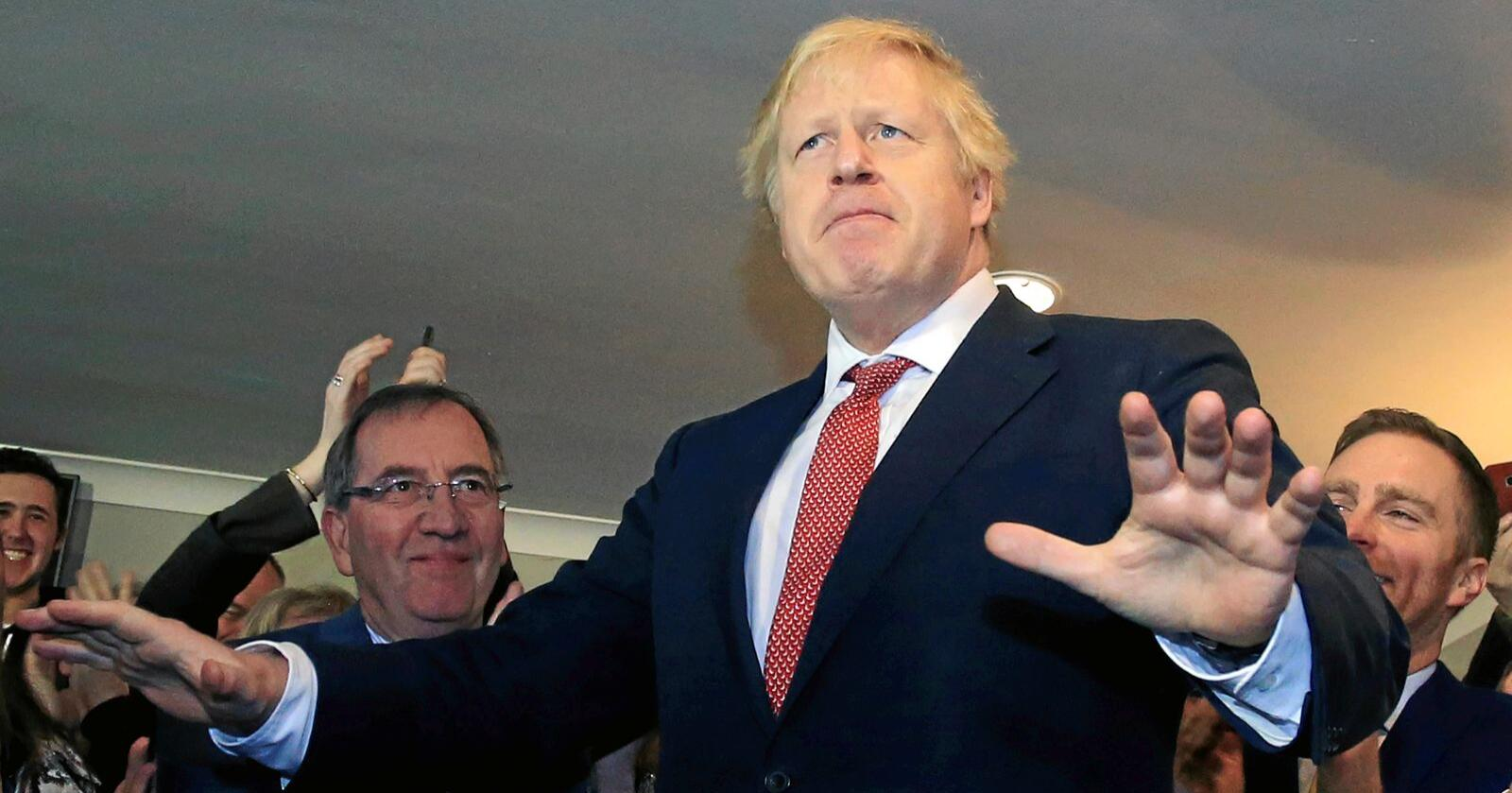 Gjenvalgt: Storbritannias statsminister Boris Johnson og det konservative partiet gjorde et brakvalg under parlamentsvalget i desember. Han lover brexit i 2020. Foto: Lindsey Parnaby / Pool / AP / NTB scanpix