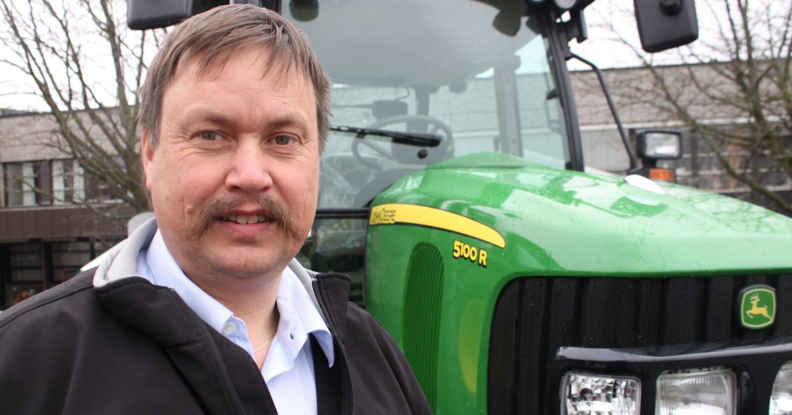 Helge Malum, servicesjef for John Deere i Felleskjøpet Agri.