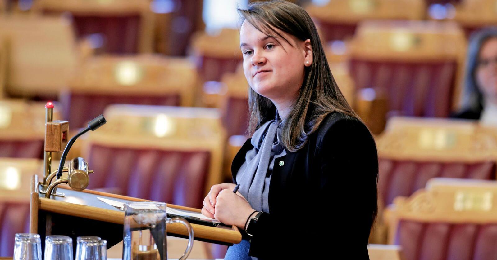 Mener fylkene bør bestemme: Marit Knutsdatter Strand (Sp) mener fylkene bør bestemme hvilken skole elevene skal gå på. Det er Høyre uenig i. Foto: Vidar Ruud / NTB scanpix