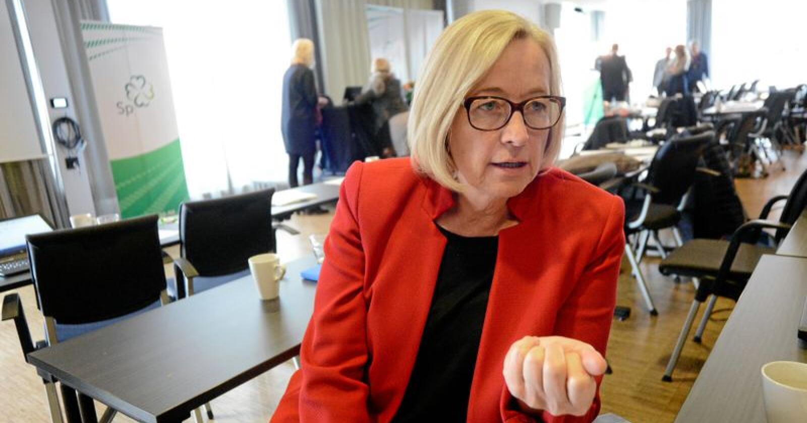 Marit Arnstad mener Bård Vegar Solhjell tar feil i sin kritikk av Arbeiderpartiet. Foto: Siri Juell Rasmussen