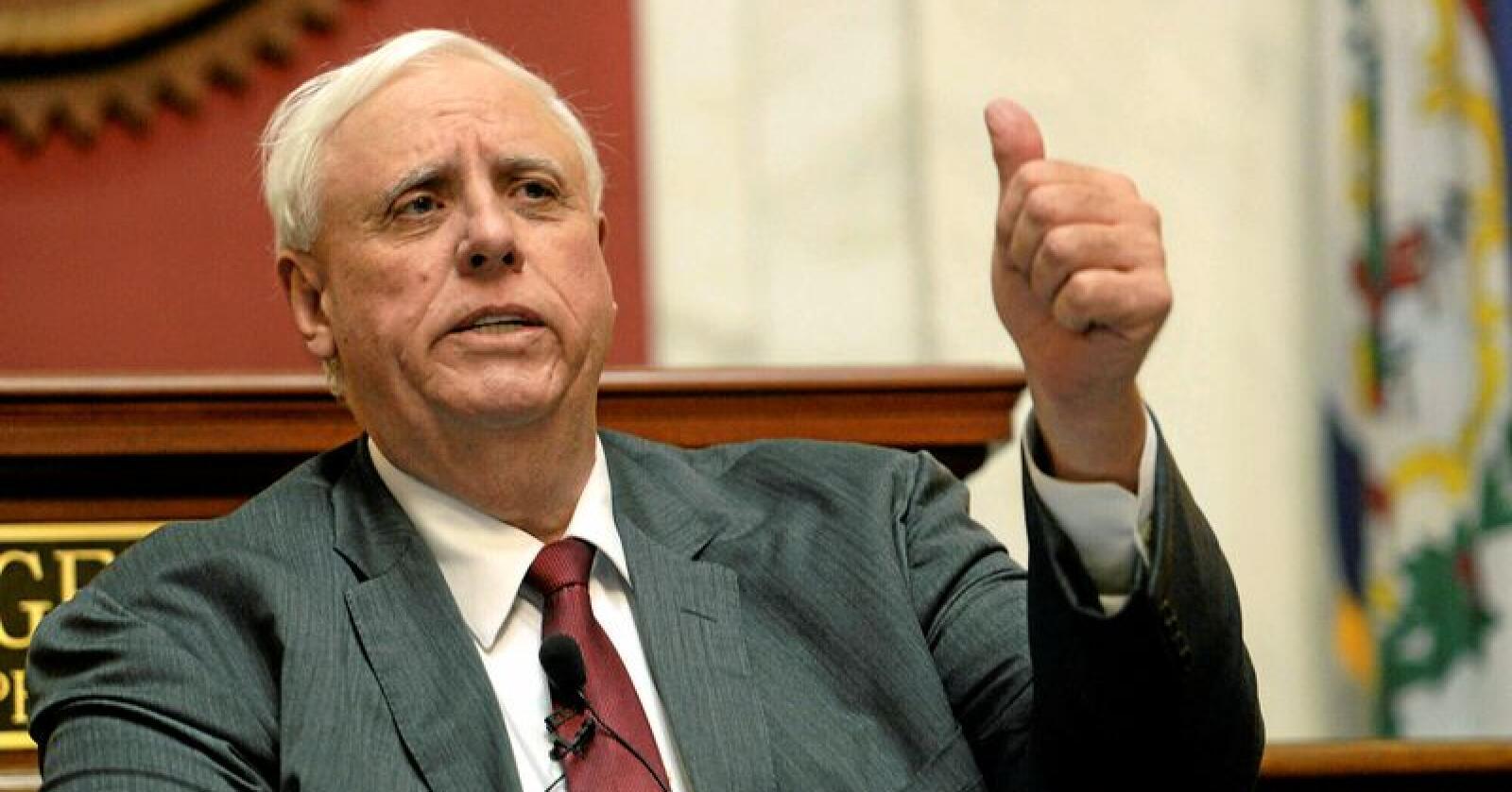 West Virginia-guvernør Jim Justice. Foto: Chris Dorst / Charleston Gazette-Mail via AP / NTB Scanpix