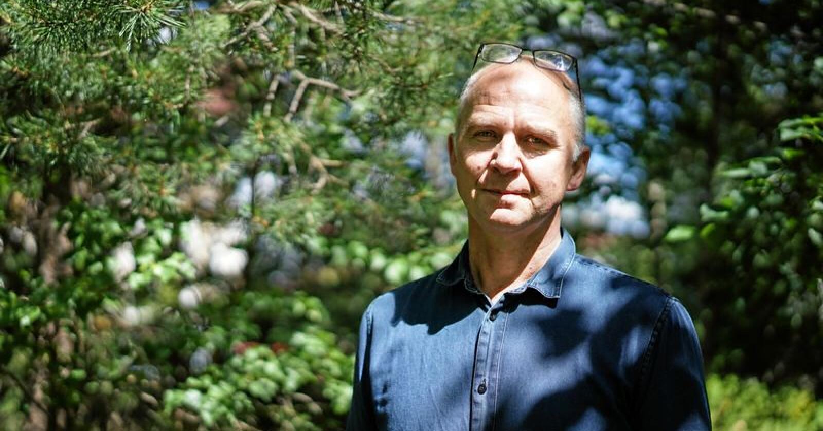 Øyvind Solum fra Miljøpartiet De Grønne er leder for Rovviltnemnda i Oslo, Akershus og Østfold. Foto: Benjamin Hernes Vogl