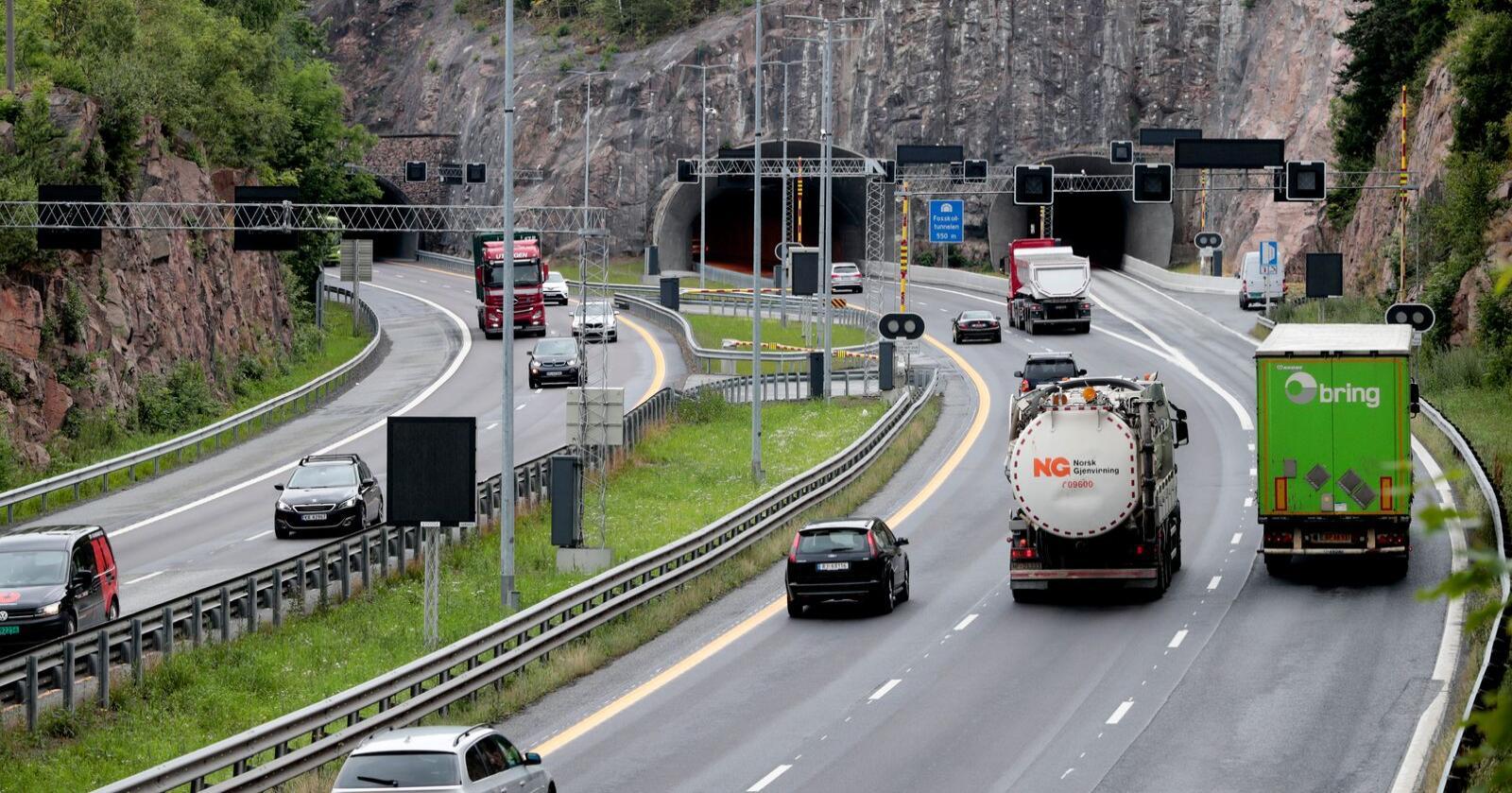 Utslippene fra veitrafikk gikk ned 7 prosent fra 2018 til 2019. Foto: Lise Åserud / NTB