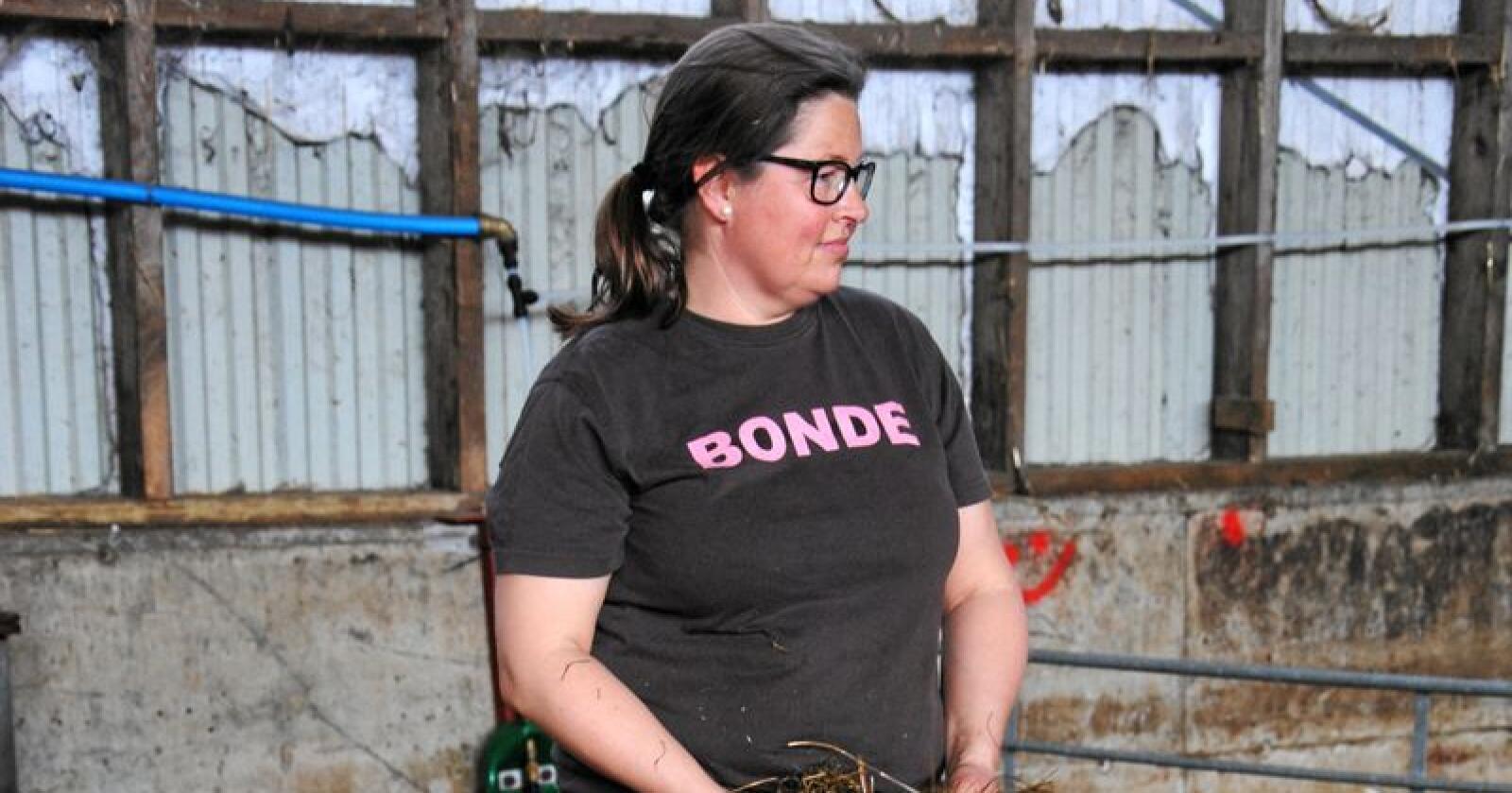 Sauebonde og leder i Oppland Bondelag, Kristina Hegge. Kommer fra Biri i Gjøvik kommune.