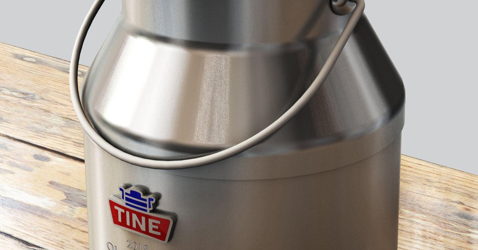 Melkespannet er hedersbemerkelsen som Tine gir til produsenter med 25 års sammenhengende produksjon av elitemelk. Foto: Ragnar Jørgensen/produsenten