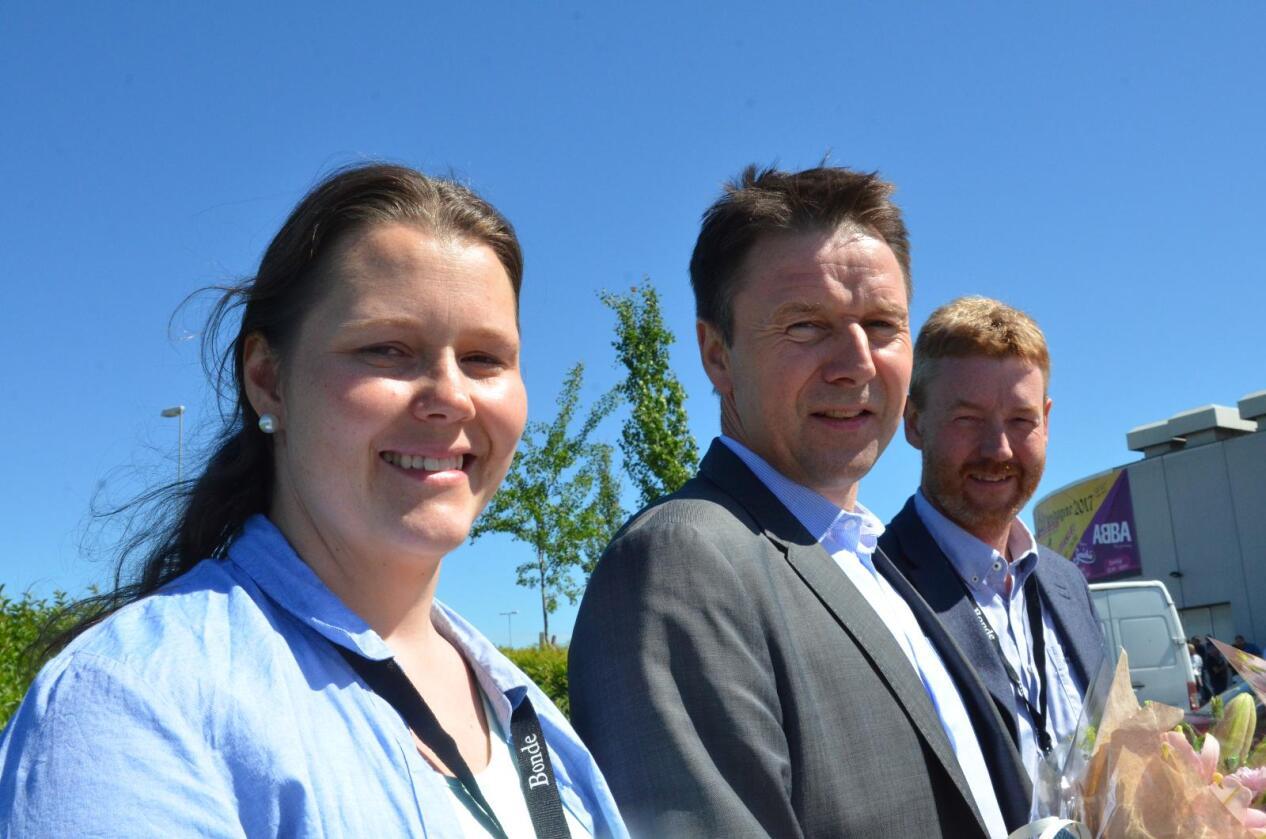 Fv. Frøydis Haugen, Lars Petter Bartnes og Bjørn Gimming. Foto: Stian Eide