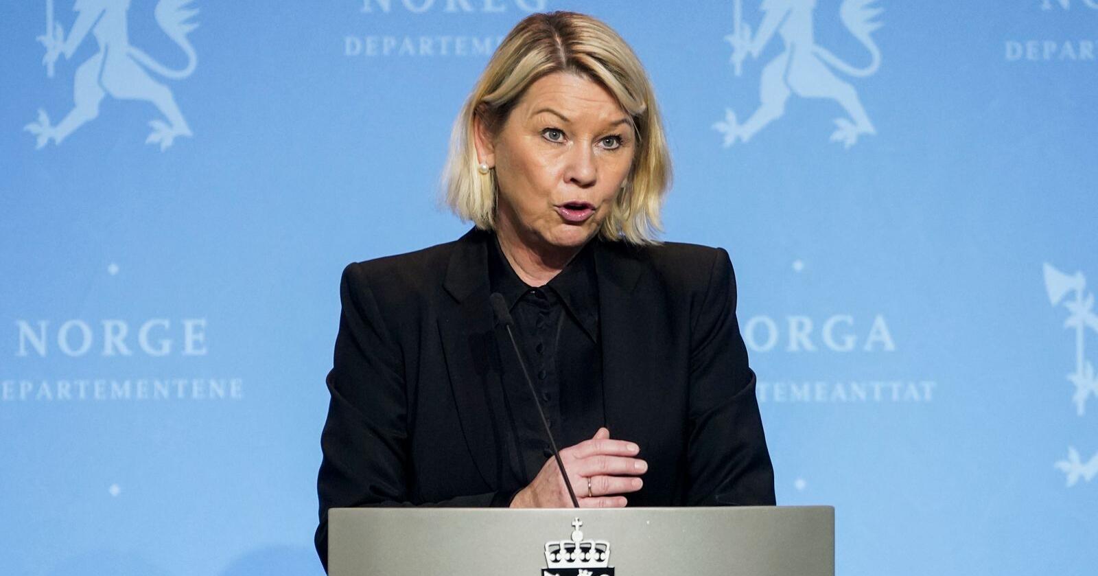 Justis- og beredskapsminister Monica Mæland (H). Foto: Fredrik Hagen / NTB