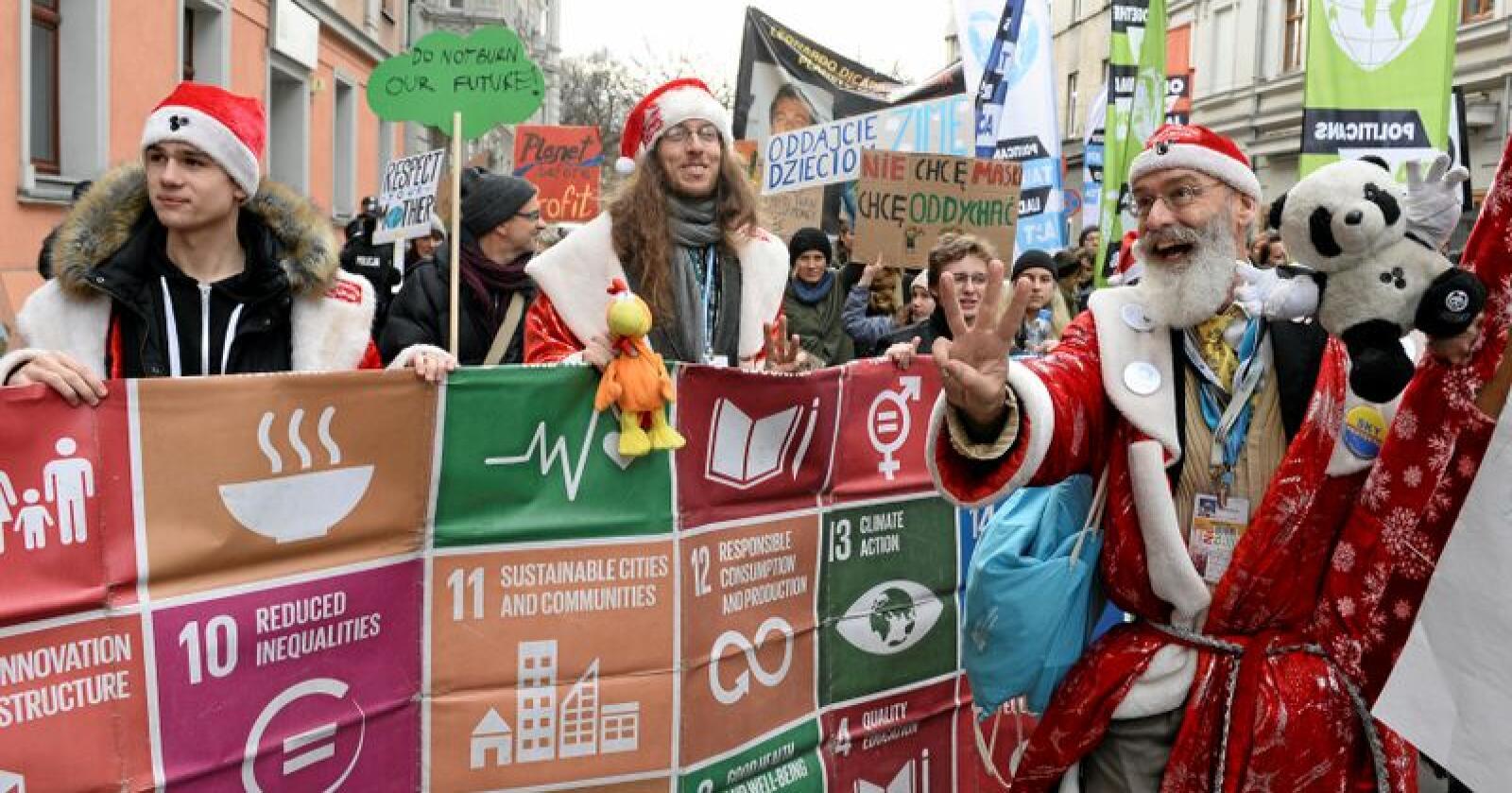 Kaos i Katowice: Alle mener noen andre bør betale for å begrense klimaendringene. Foto: Alik Keplicz