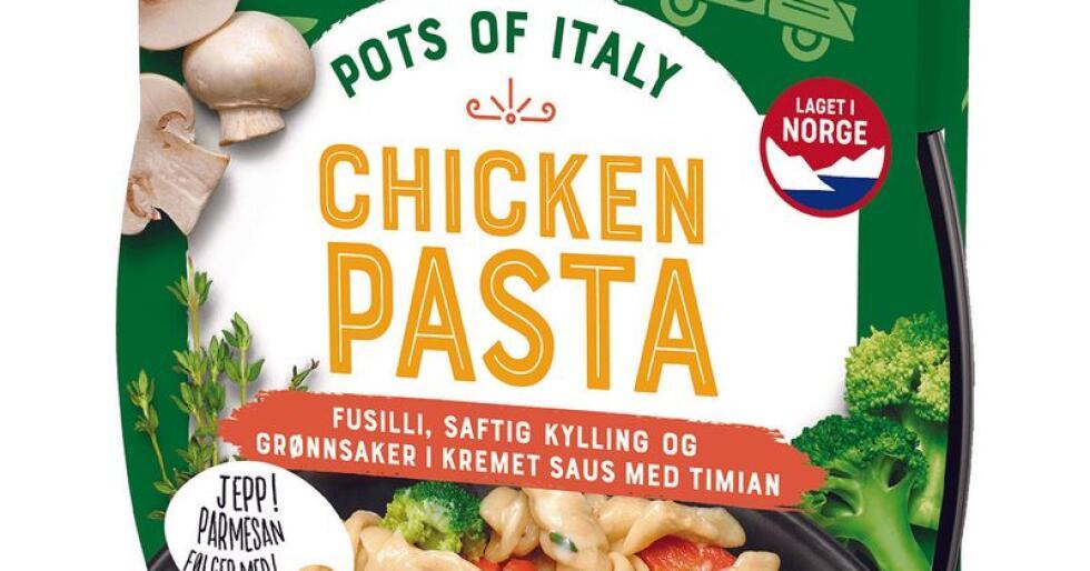 Et lite parti TORO Chicken Pasta inneholder egg og trekkes derfor tilbake. Foto: Orkla / NTB scanpix