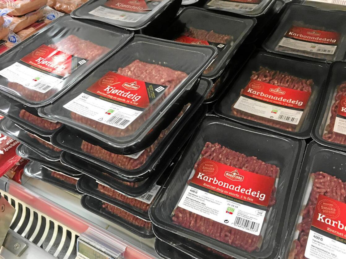 Kjøttdeig: Mye bearbeidet mat gir mer svinn enn lite, skriver innsenderen. Foto: Alexander Gjermundshaug