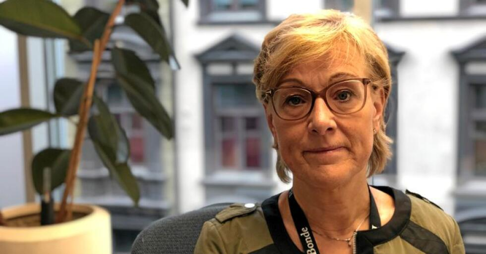 Sigrid Hjørnegård, generalsekretær i Norges Bondelag, er spent på bevilgningene til Mattilsynet når statsbudsjetter for 2020 legges fram mandag. Foto: Lars Bilit Hagen.