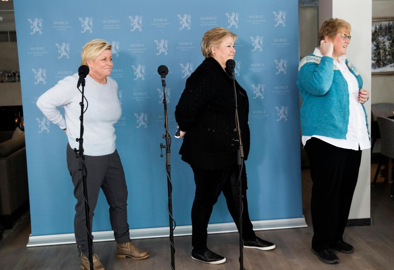 Budsjettkonferanse: Mandag innledet regjeringen sin første budsjettkonferanse på Hurdal. Bites det negler i Næringslivets hus? Foto: Foto: Berit Roald / NTB scanpix