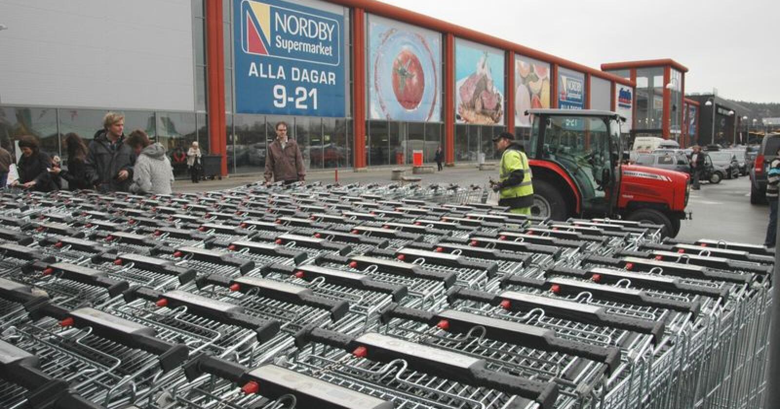 Scan er en av Nord-Europas største næringsmiddelbedrifter innenfor kjøtt, kjøttvarer og ferdigmat. Produktene er tilbakekalt fra butikkene, men noen pølsepakker er allerede solgt. (Illustrasjonsfoto)