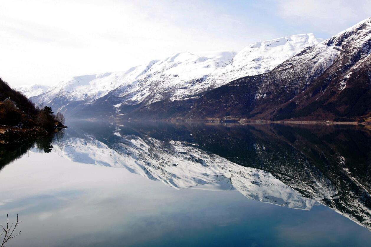 Sørfjorden er en arm av Hardangerfjorden. Foto: Håkon Mosvold Larsen / NTB scanpix