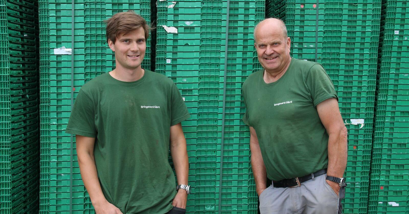 Samarbeider godt: Bernhard Arnevik (24)