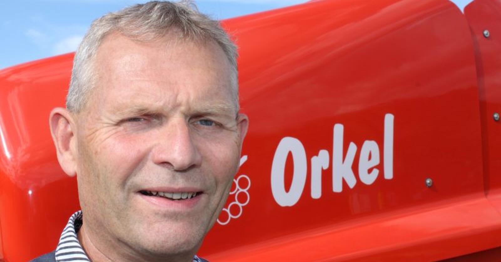 Jarl Gjønnes i Orkel sier at både de og Felleskjøpet Agri har innsett at partene ikke lykkes med samarbeidet som startet i 2014. Foto: Dag Idar Jøsang