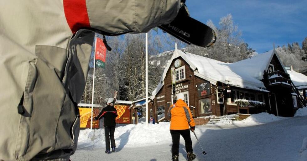 Meldingen til Liv Signe Navarsete ble sendt fra en hytte i Åre. Foto: Scanpix/Jan E. Henriksson