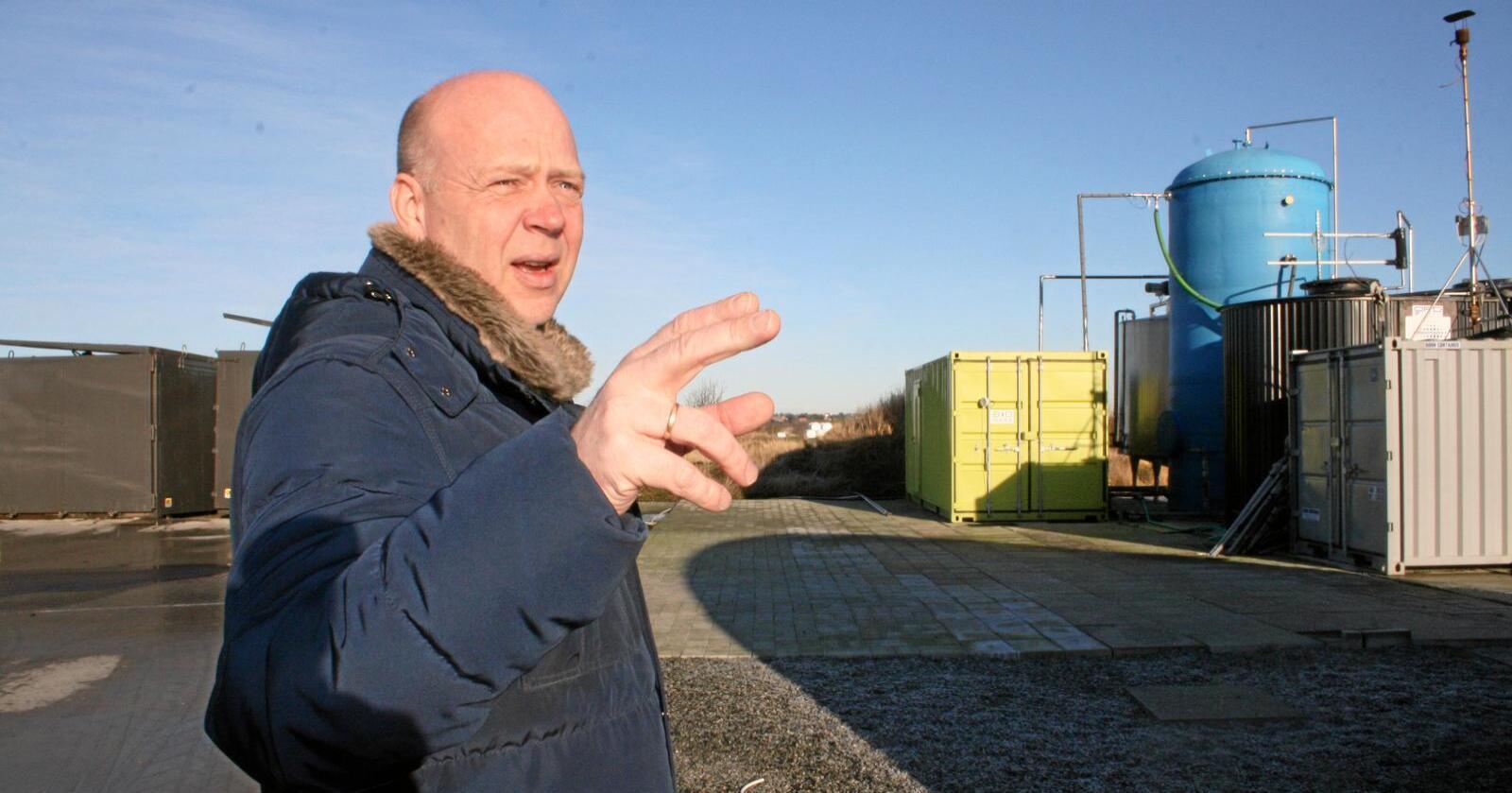 Pilotanlegg: Dagleg leiar i Agri-e AS, Egil Vigdel, vil bygge eit pilotanlegg for produksjon av hydrogen basert på biogass frå husdyrgjødsel. Anlegget er tenkt bygd